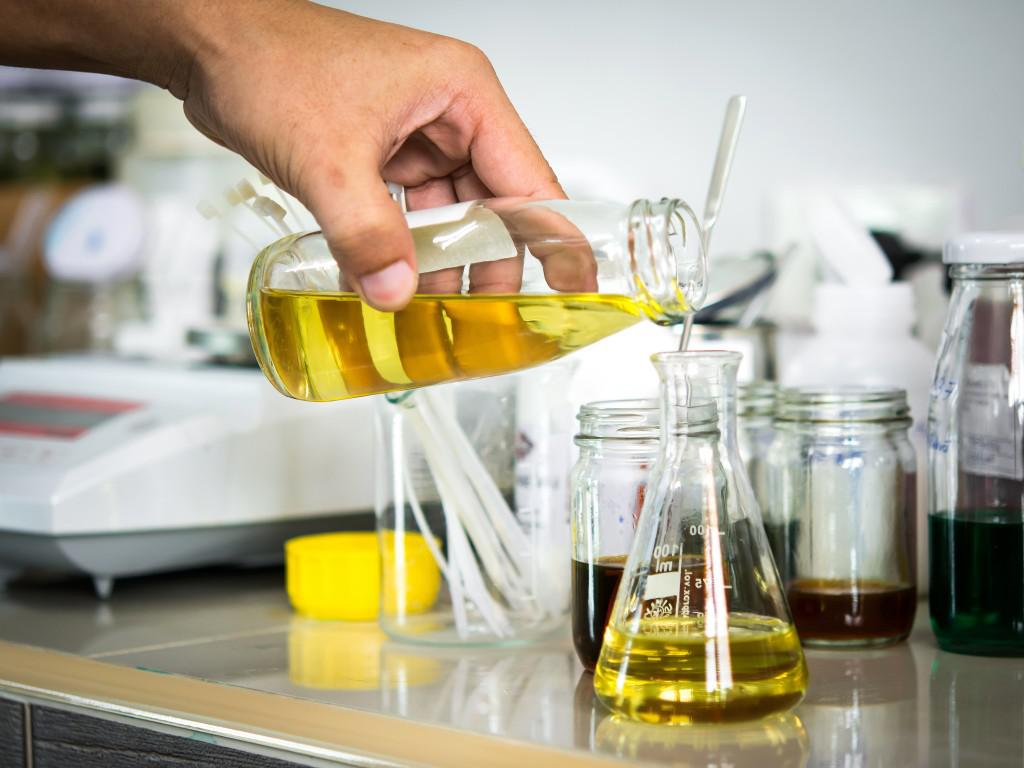 Nevitt Fragrances thoroughly test each fragrance to ensure the highest quality and consistency. Formulas are created, identified, and stored in a batch retention system.